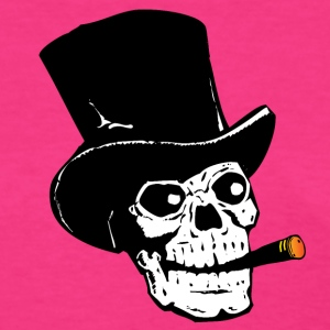 Skull Smoking Cigar T-Shirts - Women's T-Shirt