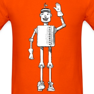 Robot Tin Man Cartoon T-Shirts - Men's T-Shirt
