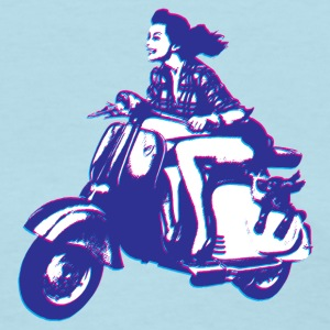 Cute Vespa Scooter Girl T-Shirts - Women's T-Shirt