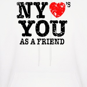 New York Loves You As A Friend - Men's Hoodie