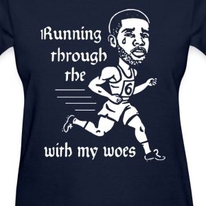 Running with my woes - Women's T-Shirt