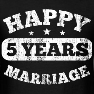 5 Years Happy Marriage T-Shirts - Men's T-Shirt