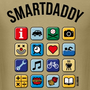 Smartdaddy (Daddy / Dad / POS / PNG) T-Shirts - Men's T-Shirt