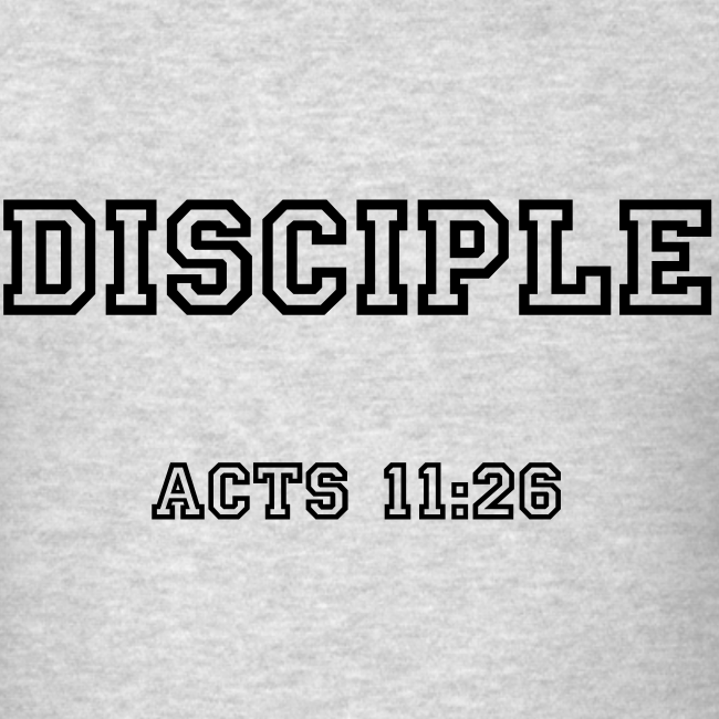 Men's Disciple Acts 11:26 Dark Print