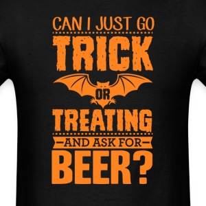 Trick or Treat for Beer Halloween Funny Adults T-S T-Shirts - Men's T-Shirt
