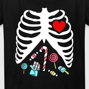 Halloween Scary Stomach Candies Bones Kids T-Shirt Kids' Shirts - Kids' T-Shirt