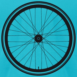 Wheel of a bicycle - Men's T-Shirt by American Apparel