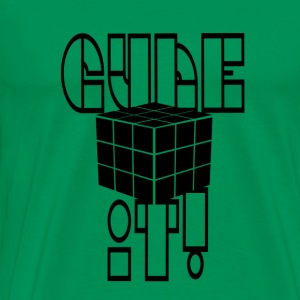 cube it black (cube) - Men's Premium T-Shirt