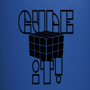 cube it black (cube) - Full Color Mug