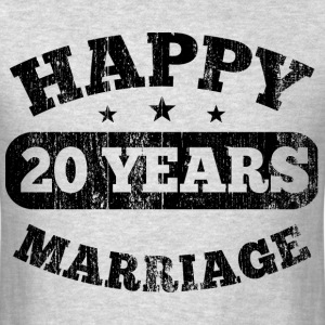 20 Years Happy Marriage T-Shirts - Men's T-Shirt