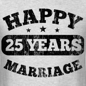 25 Years Happy Marriage T-Shirts - Men's T-Shirt
