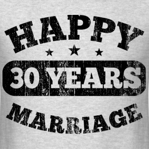 30 Years Happy Marriage T-Shirts - Men's T-Shirt