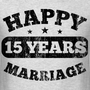 15 Years Happy Marriage T-Shirts - Men's T-Shirt