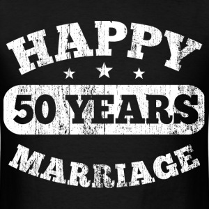 50 Years Happy Marriage T-Shirts - Men's T-Shirt