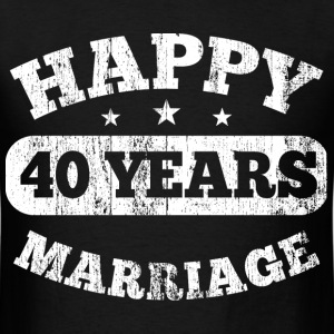 40 Years Happy Marriage T-Shirts - Men's T-Shirt