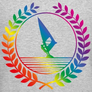surfing rainbow Long Sleeve Shirts - Crewneck Sweatshirt