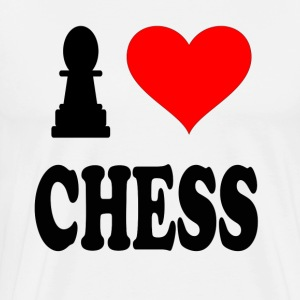 I Love Chess T-Shirts - Men's Premium T-Shirt