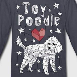 Geometric Toy Poodle Kids' Shirts - Kids' Long Sleeve T-Shirt