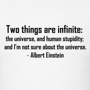 Einstein quote T-Shirt #1 (White) - Men's T-Shirt