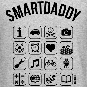 Smartdaddy (Daddy / Dad / SVG) Long Sleeve Shirts - Crewneck Sweatshirt