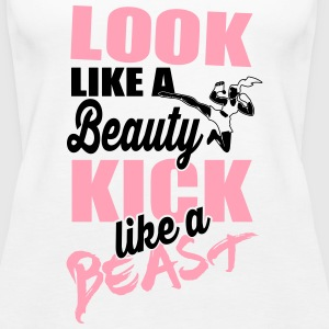 Martial Arts: Kick like a beast Tanks - Women's Premium Tank Top