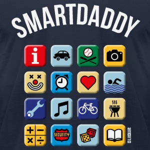 Smartdaddy (Daddy / Dad / NEG / PNG) T-Shirts - Men's T-Shirt by American Apparel