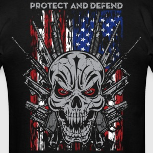 Badass Skull Guns Protect T-Shirts - Men's T-Shirt