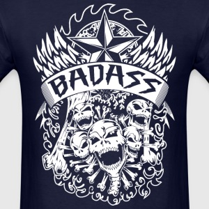 Bad Ass Skulls-N-Bones T-Shirts - Men's T-Shirt