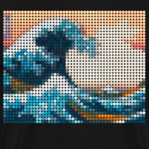 Great Wave Mosaic - Men's Premium T-Shirt
