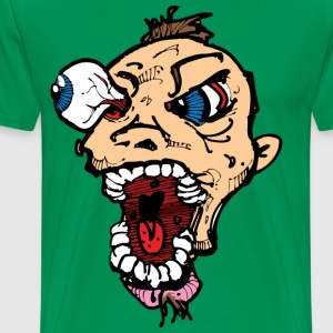 Eye Poppin Crazy Guy T-Shirts - Men's Premium T-Shirt