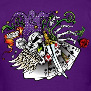Badass Poker Joker T-Shirts - Men's T-Shirt