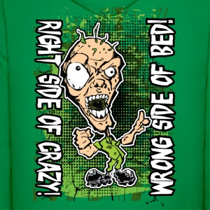 Crazy Ghoul Right Wrong Hoodies - Men's Hoodie