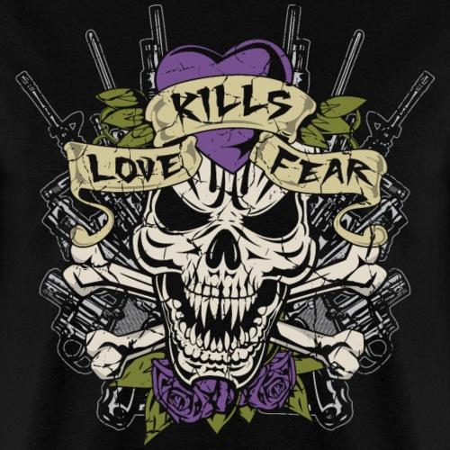 Love Kills Fear Skull Gun