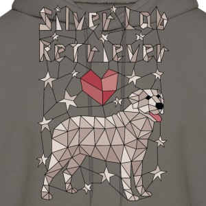 Geometric Silver Lab Retriever Hoodies - Men's Hoodie