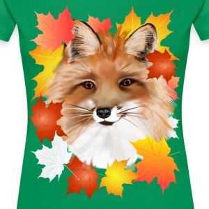 FACE in FALL-Fox eye view - Women's Premium T-Shirt