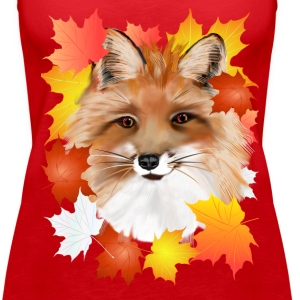 FACE in FALL-Fox eye view - Women's Premium Tank Top