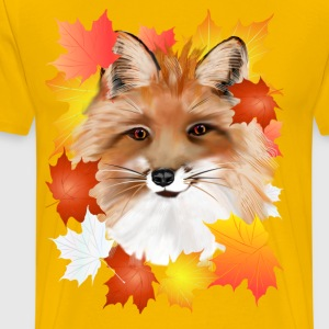 FACE in FALL-Fox eye view - Men's Premium T-Shirt