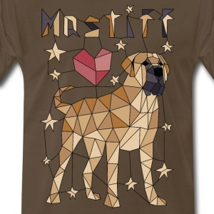 Geometric Mastiff T-Shirts - Men's Premium T-Shirt
