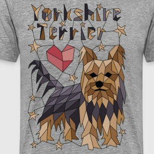 Geometric Yorkshire Terrier T-Shirts - Men's Premium T-Shirt