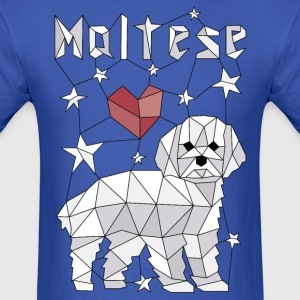 Geometric Maltese T-Shirts - Men's T-Shirt