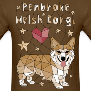 Geometric Pembroke Welsh Corgi T-Shirts - Men's T-Shirt