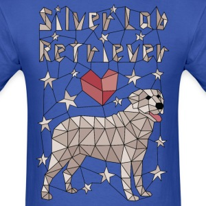 Geometric Silver Lab Retriever T-Shirts - Men's T-Shirt