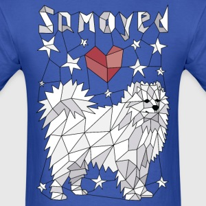 Geometric Samoyed T-Shirts - Men's T-Shirt