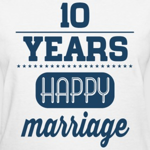 10 Years Happy Marriage T-Shirts - Women's T-Shirt