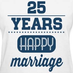 25 Years Happy Marriage T-Shirts - Women's T-Shirt