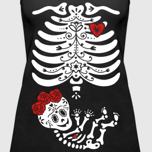 Maternity Sugar Skull Girl - Frida Tanks - Women's Premium Tank Top