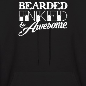 Bearded Inked & Awesome - Men's Hoodie