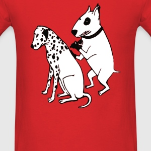 DALMATIAN DOG, TATTOO - Men's T-Shirt