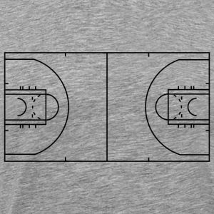 Basketball Court - Men's Premium T-Shirt