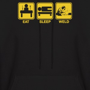 Eat, Sleep, Weld - Men's Hoodie